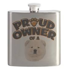 Proud Owner of a Chow Chow.png Flask