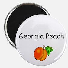 """Georgia Peach Souvenir 2.25"""" Magnet (100 pack)"""