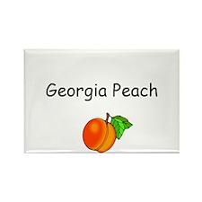 Georgia Peach Souvenir Rectangle Magnet