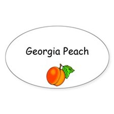 Georgia Peach Souvenir Oval Decal