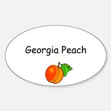 Georgia Peach Souvenir Oval Decal
