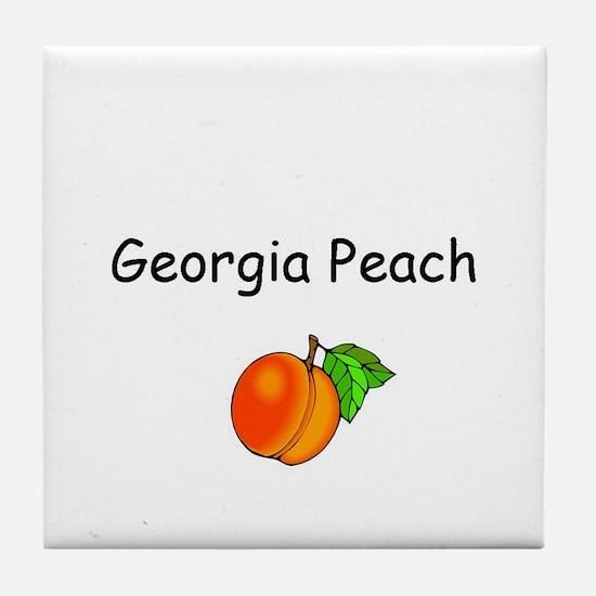 Georgia Peach Souvenir Tile Coaster