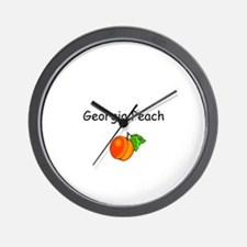 Georgia Peach Souvenir Wall Clock