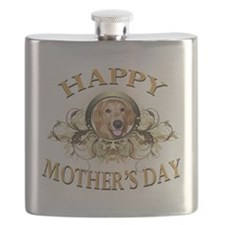 Happy Mothers Day Golden Retriever.png Flask