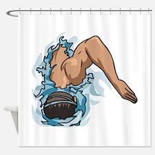 Swimming Shower Curtain