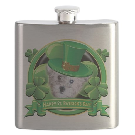 Happy St Patricks Day Schnoodle.png Flask