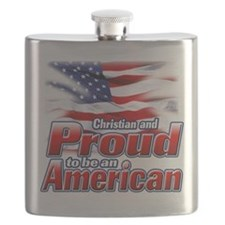 Christian and Proud to be an American.png Flask