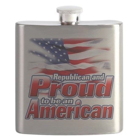 Republican and Proud to be an American.png Flask