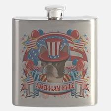American Pride Boston Terrier.png Flask