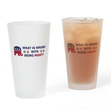 What Is Wrong With Being Right Drinking Glass