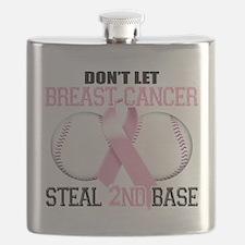 Dont Let Breast Cancer Steal 2nd Base.png Flask