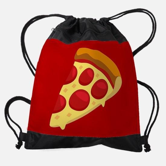 Pizza Emoji Drawstring Bag