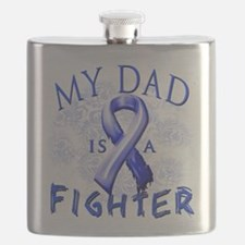 My Dad Is A Fighter Blue.png Flask