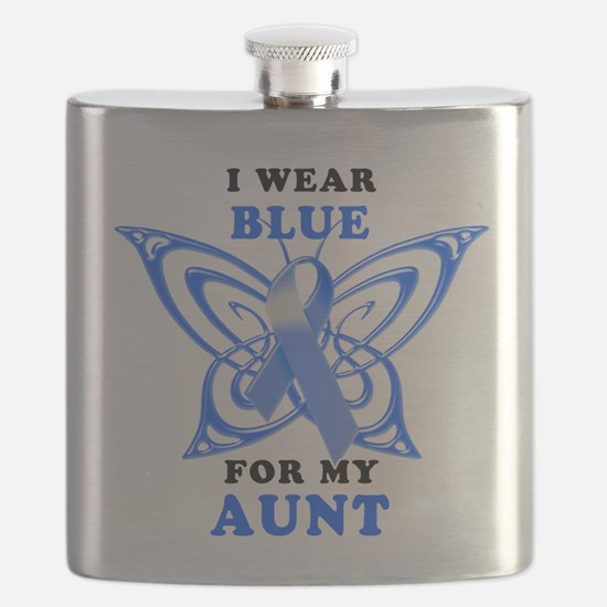 I Wear Blue for my Aunt.png Flask