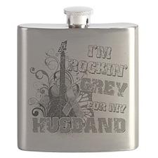 Im Rockin Grey for my Husband.png Flask