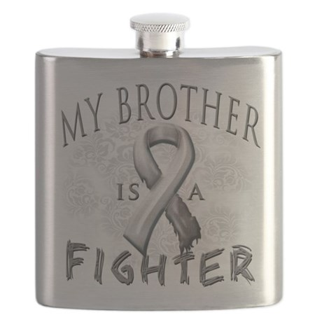My Brother Is A Fighter Grey.png Flask