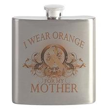I Wear Orange for my Mother (floral).png Flask