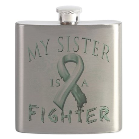 My Sister is a Fighter Teal.png Flask