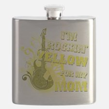 Im Rockin Yellow for my Mom.png Flask