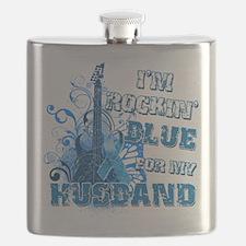 Im Rockin Blue for my Husband.png Flask