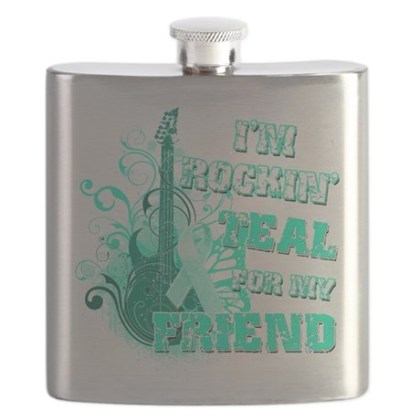 Im Rockin Teal for my Friend.png Flask