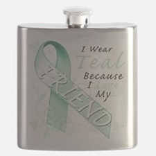 I Wear Teal Because I Love My Friend.png Flask
