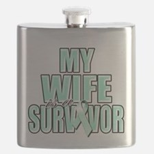 My Wife is a Survivor (teal).png Flask