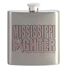 Mississippi Breast Cancer Fighter.png Flask