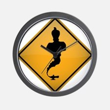 Genie Warning Sign Wall Clock