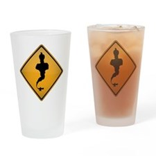 Genie Warning Sign Drinking Glass