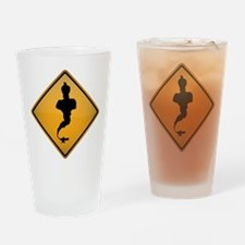 Genie Warning Sign Drinking Glass