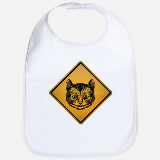 Cheshire Cat Warning Sign Bib