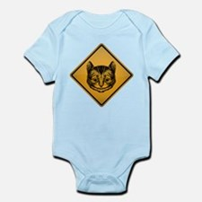 Cheshire Cat Warning Sign Infant Bodysuit