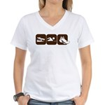 Alligator Swim Women's V-Neck T-Shirt