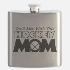Dont Mess With This Hockey Mom Flask