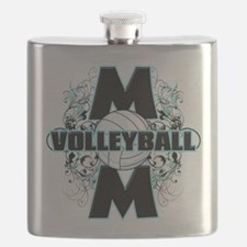 Volleyball Mom (cross).png Flask