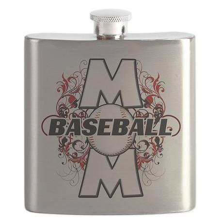Baseball Mom (cross) copy.png Flask