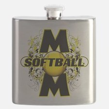 Softball Mom (cross) copy.png Flask