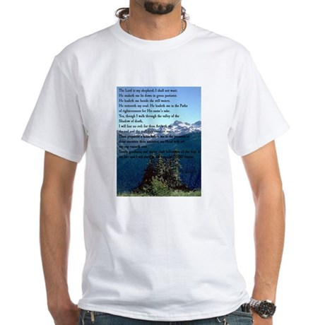 Psalm 23 White T-Shirt