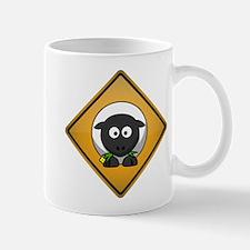 Sheep Warning Sign Mug