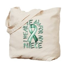 I Wear Teal for my Niece Tote Bag