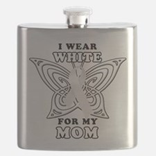 I Wear White for my Mom.png Flask