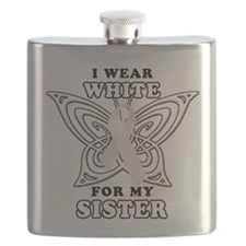 I Wear White for my Sister.png Flask