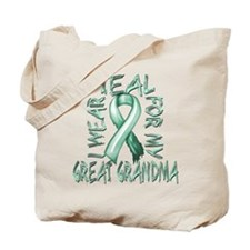 I Wear Teal for my Great Grandma Tote Bag