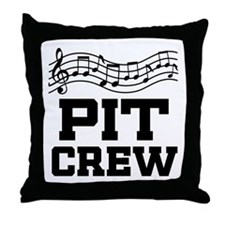 Pit Crew Marching Band Throw Pillow