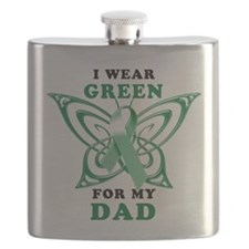 I Wear Green for my Dad.png Flask