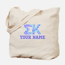 Sigma Kappa Floral Letters Tote Bag