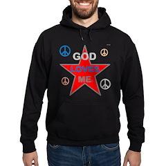 OYOOS God Loves Me design Hoodie (dark)