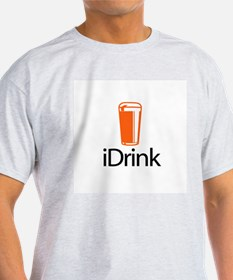 iDrink Ash Grey T-Shirt