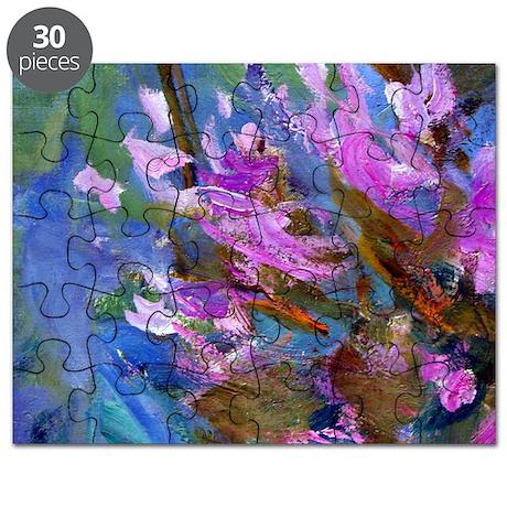 Monet - Agapanthus Bed Puzzle